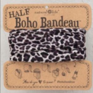 Natural Life Half Boho Headband Bandeau BlackBrown
